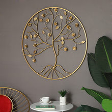 Simples decoração de parede de ferro criativo sala de estar varanda corredor decoração de parede modelo quarto hotel circular decoração de parede
