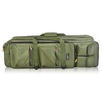Bolsa de pesca de 3 capas para Bolsa de caña de pescar al aire libre  mochila de 80cm/100cm  caña de pescar con carrete para bolsa de transporte  bolsa para aparejos de pesca  funda de transporte