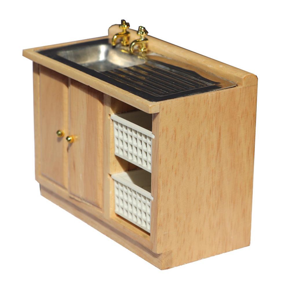 1/12 Hand Washing Washbasin Model Kitchen Furniture Miniature Doll House Toy