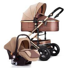 Новая Роскошная детская коляска landview 3 в 1 портативная удобная