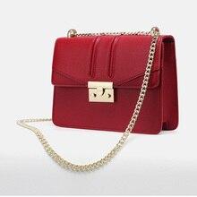 Bag female small ck female bag 2019 new casual lock small square bag chain bag fashion slung shoulder baotou bag popular models