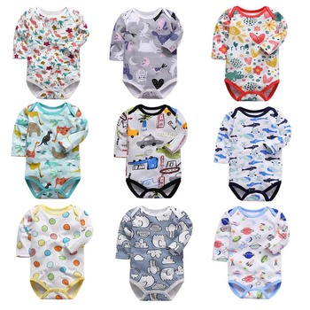 Newborn Bodysuit Baby Clothes Cotton Body Long Sleeve Underwear Infant Boys Girls Clothing Baby's Sets - discount item  16% OFF Baby Clothing