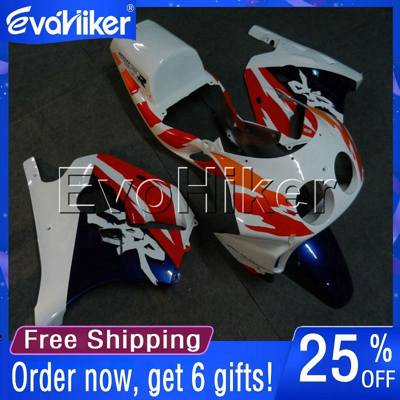 Custom motorcycle cowl for <font><b>CBR250RR</b></font> MC22 1990-1999 ABS <font><b>fairing</b></font> Injection mold motorcycle bodywork <font><b>kit</b></font> red white+gifts image