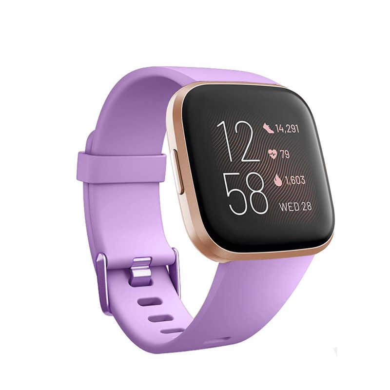 Baaleetc, para Fitbit Versa, pulsera deportiva de silicona ajustable, correa de reloj transpirable con orificios de aireación para Fitbit Versa 2, pulsera