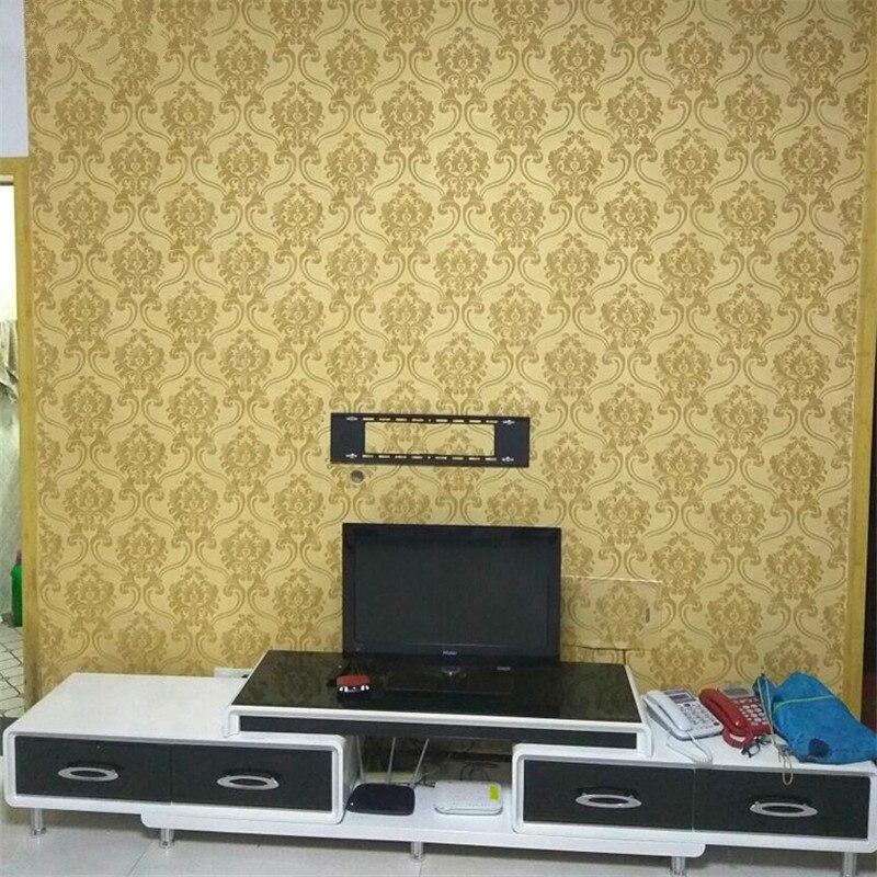 Wellyu damassé papel de parede 3D papier peint pour murs vinyle PVC paillettes papier peint pour salon papier peint papel mural