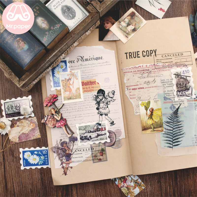 Mr.paper 100pcs/box Vintage Story Kraft Paper Scrapbooking/Card Making/Journaling Project DIY Diary Decoration LOMO Cards 4