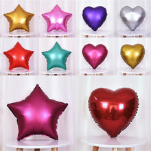 5pcs/lot 18inch Five-pointed star foil balloons Metal Balloon baby shower wedding balloon birthday party decorations kids globos(China)