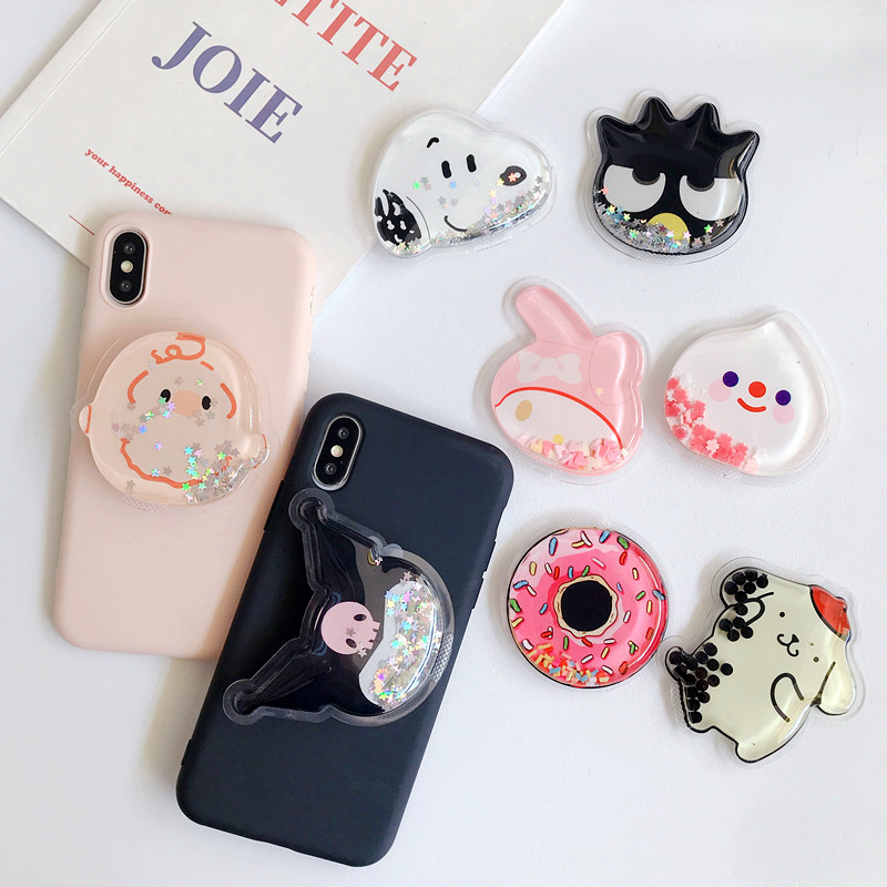 Cute Mobile Phone Bracket Bouncing Socket Mobile Phone Bracket Telescopic Bracket Cartoon Airbag Expansion Mobile Phone Bracket
