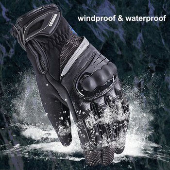 Motorcycle Hard Knuckle Full Finger Gloves Touch Screen Windproof Waterproof Dropproof Warm Moto Protective Gear Racing Gloves