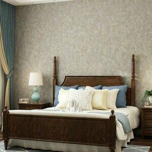 Image 3 - Vintage katı renk gümüş/altın doku duvar kağıdı düz siyah gri yeşil basit duvar kağıdı rulo dokunmamış yatak odası oturma odası