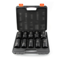 10Pcs 1 Inch Impact Sockets Set Cr Mo Material 88mm Length 25mm Square Hole Pneumatic Sleeve 24 27 30 32 33 34 36 38 41 46mm