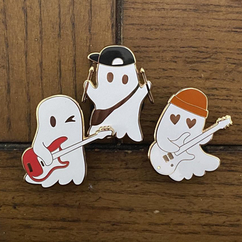 Жёсткая эмалированная брошь на лацкан Julie and The Phantoms Ghost Band Броши      АлиЭкспресс
