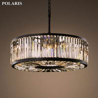 Modern Vintage Crystal Chandelier Lighting Pendant Hanging Light Ceiling Mounted Chandeliers Lamp for Home Hotel Villa Decor