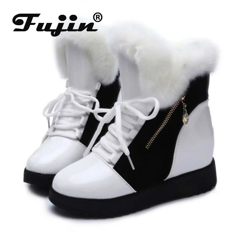 Female Boots Velvet Winter Casual Students Non-Slip Plus Fall Fujin Round-Head Matching