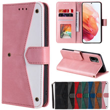 Leather Wallet Case For Samsung Galaxy S21 S20 Ultra S10 S9 S8 Plus S7 Edge Galaxy A12 A32 A42 A51 A52 A71 A72 Phone Stand Cover