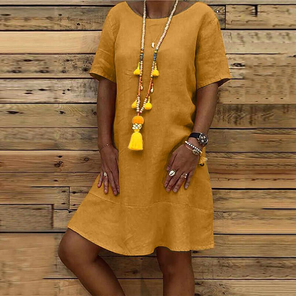 Plus Size Mini Dress Women Summer 2019 Streetwear Casual Loose Korean Dress Women Short Sleeve O-neck Tshirt Dress vestidos