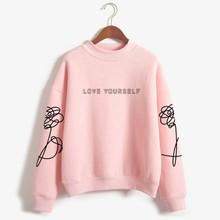 Love Yourself kpop Capless Sweatshirts outwear Hip-Hop Women Bangtan Boys Album Fake Love Turtleneck New DNA K-pop Clothes