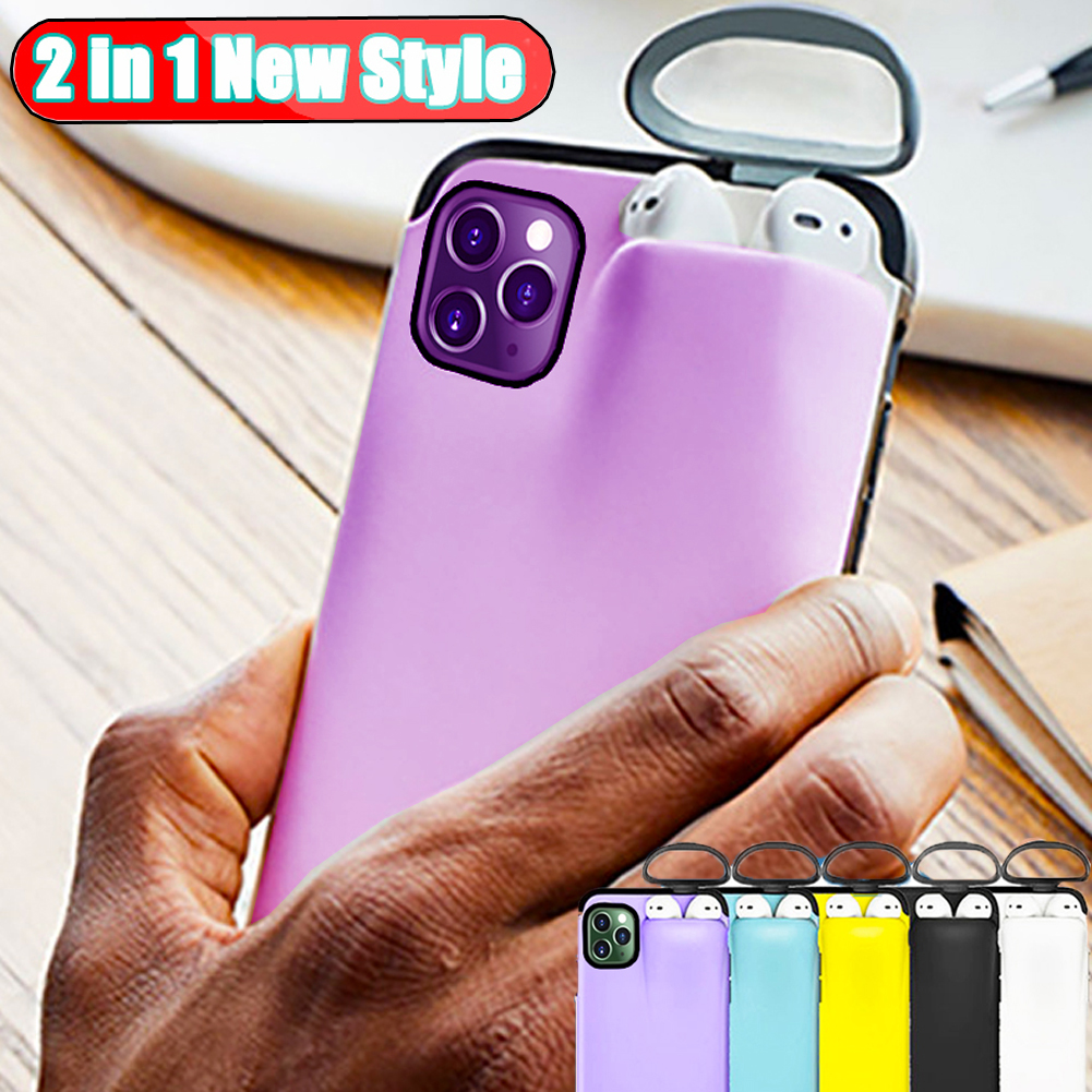 Hdf3d7e932f614f8fb09743fc54ea21a6F Jetjoy Case for iPhone 11 Pro Max Case Xs Max Xr X 10 8 7 Plus Cover for AirPods 2 1 Holder Hard Case for AirPods Case Hot Sale