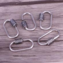 5 uds, mosquetón de Color plateado antiguo, cierre de Conector Micro pavé CZ Vintage, cierre para la fabricación de joyas