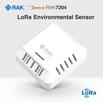 RAK7204 LoRaWAN Node Environmental Monitoring Station for Temperature Humidity Gas Pressure Indoor Air Quality Index Measure