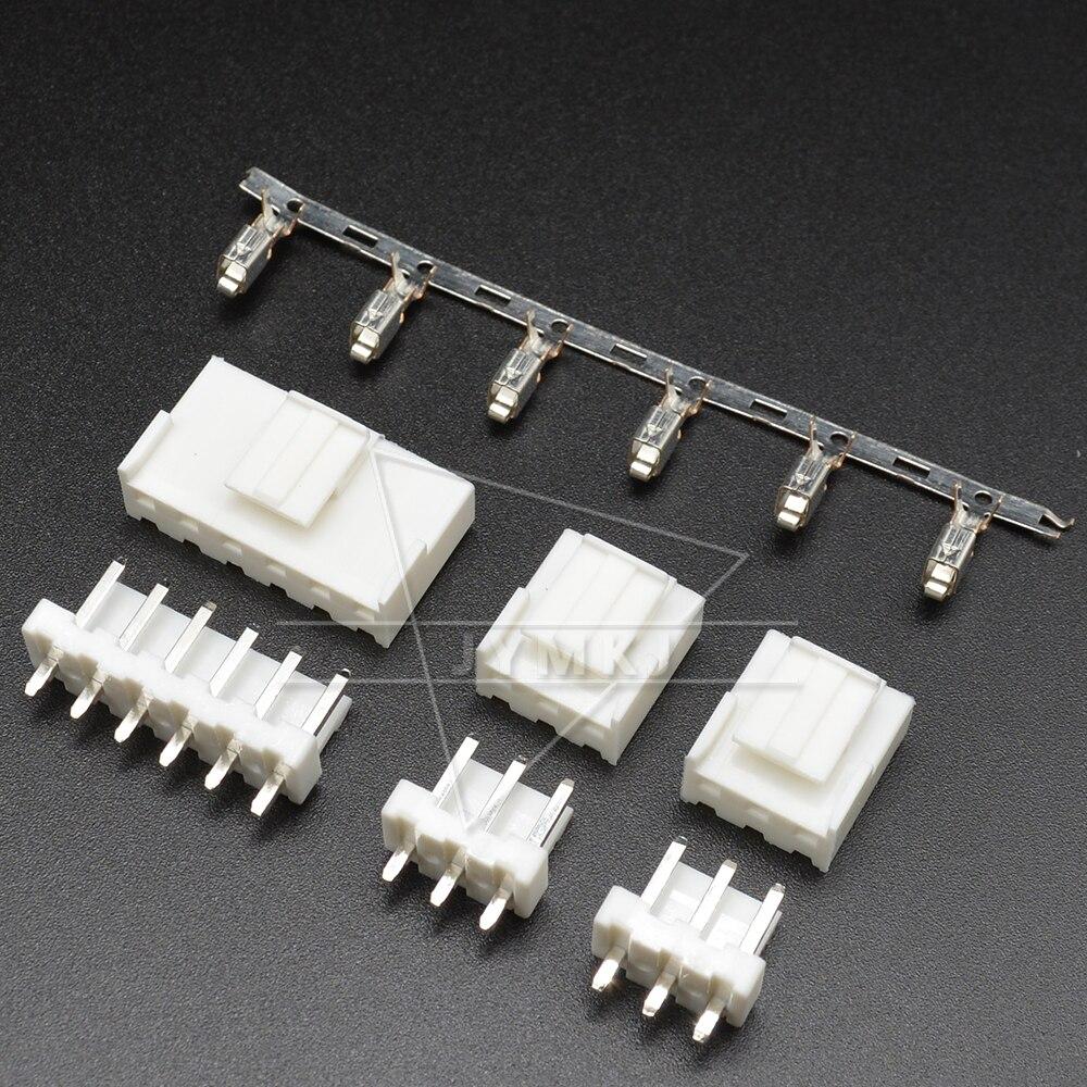Новые 10 комплектов VH 3,96 мм 2P 3P 4P 5P 6P 7P 8P 9P 10 Pin штекер + женский корпус + клеммы VH3.96 разъем