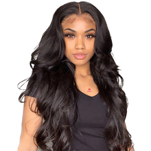 Wig Frontal Human-Hair Lace Brazilian for Women Bleached Knots Remy-360 Body-Wave