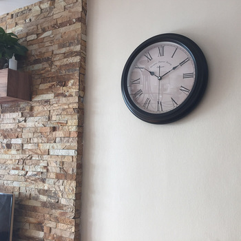 Simple Large Wall Clock Silent Vintage European Style Single Wall Clock Big Roman Vintage Kitchen Wandklok Watch Home AA60WC