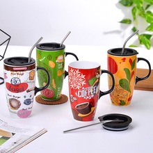 Coffee-Mug Animal-Mugs Milk-Cup Ceramics Drinkware Gifts 600ml Novelty Creative Cute