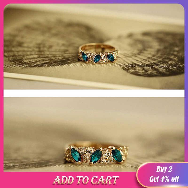 Retro คริสตัลแหวน Rhinestone แหวนหญิง Index Finger เครื่องประดับ Bijoux anillos ของขวัญขายส่ง Dropshipping