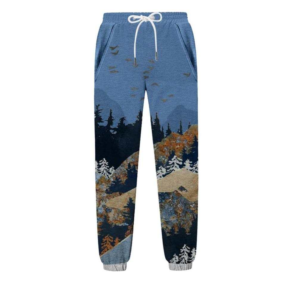 2020 Fashion Pantalon Gimnasio Hombre Men S Mountain Treetop Print Pocket Sports Running Sports Athletic Pantalon Deporte Hombre Running Pants Aliexpress