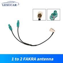 Cabeça macho cabo de conversão rádio um 1 fakra fêmea cabeça para dois 2 fakra antena interface adaptador conector universal