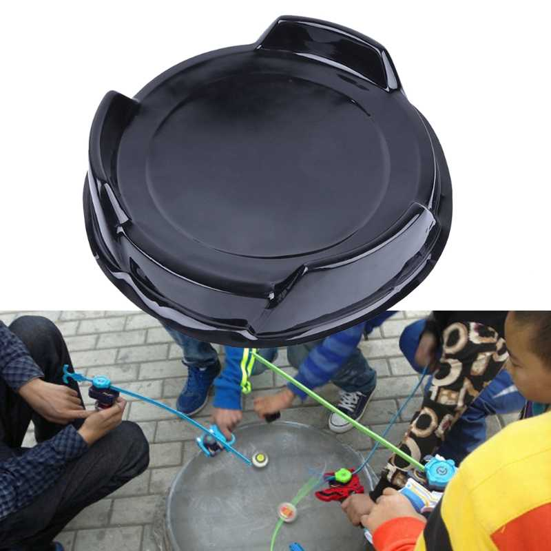 New Durable Attack Battle Top Plate Black Stadium Combat Arena Beyblade Bey Toy  Drop shipping