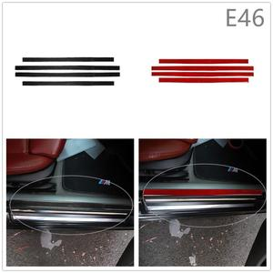 Voor Bmw 3 Serie E46 M3 1998-2005 Interieur Auto Real Carbon Fiber Drempel Deur Pad Voet Pad Modificatie sticker