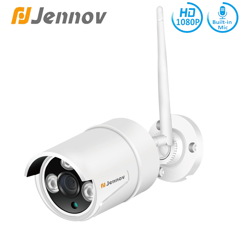 Jennov HD 2MP IP Camera Wi-fi Outdoor Video Surveillance Security Camera Weatherproof Built-in SD Card CCTV Audio Record 1080P