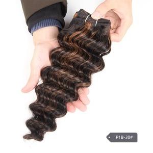 Image 5 - Rebecca Deep Wave Brazilian Hair Weave Bundles Remy 5 Colors Human Hair Bundles 100g Brown Blonde For Salon Hair Extensions