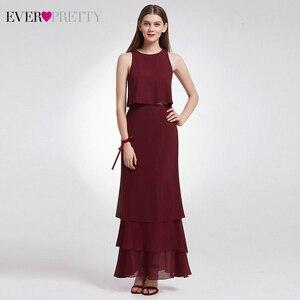Image 4 - Zarif İki adet gelinlik modelleri hiç güzel EP07173 o boyun Ruffles katmanlı basit şifon elbise düğün parti için Sukienki