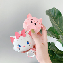 3D The Aristocats Marie Cat Toy Story Hamm Pig Piggy Cute Cartoon Headphone Cases For Apple Airpods 1 2 Silicone Earphone Cover 8 20cm toy story hamm piggy bank pink pig coin box pvc model toys for children kid birthday gift