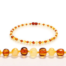 33cm/13in Classic Baby Necklace Children Wholesale Fanshion Natural Stone Necklace Baby Teething Handmade Necklace Baltic Amber(China)