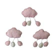 3/5 Pcs DIY Handmade Baby Wool Felt Clouds Stars Love Ornaments Home Party Decor 53CE