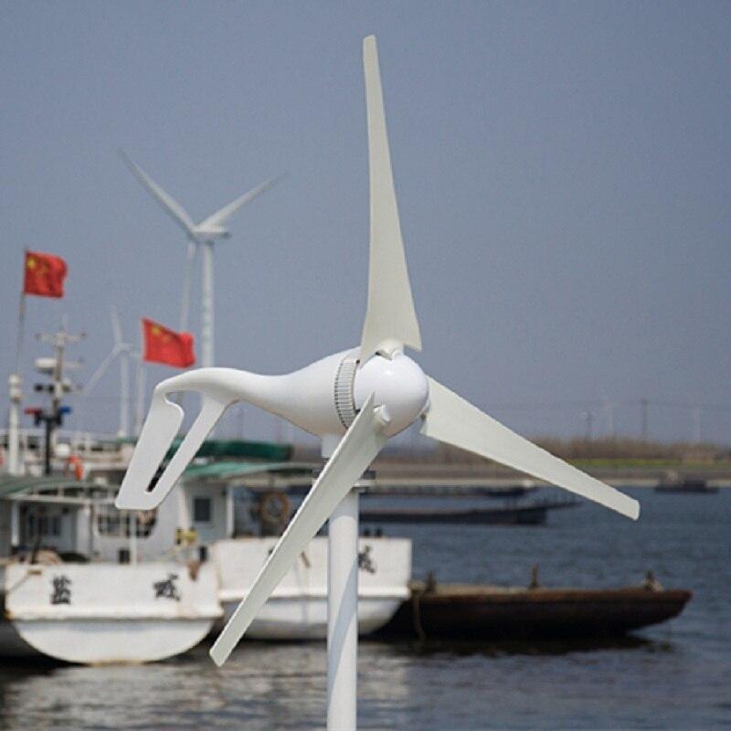 Gerador de Turbina eólica com 3/5/6PCS Lâminas Controlador Fase 3 12 V/24 V Geração para Barco Terra 3 Anos de Garantia.