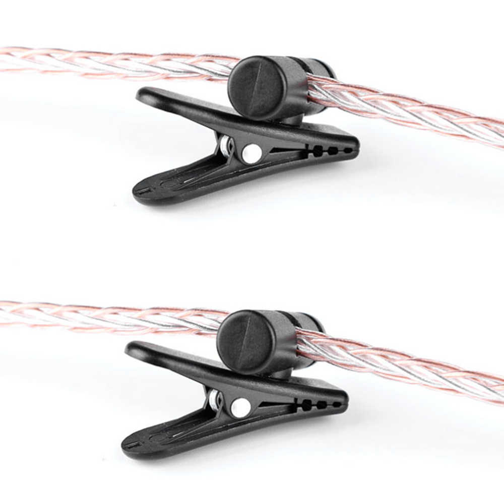 1/3/5 Pcs 360 Derajat Rotatable Headphone Earphone Kabel Tali Kawat Kerah Klip untuk Ponsel Headset Walkie-Talkie MP3 Headset