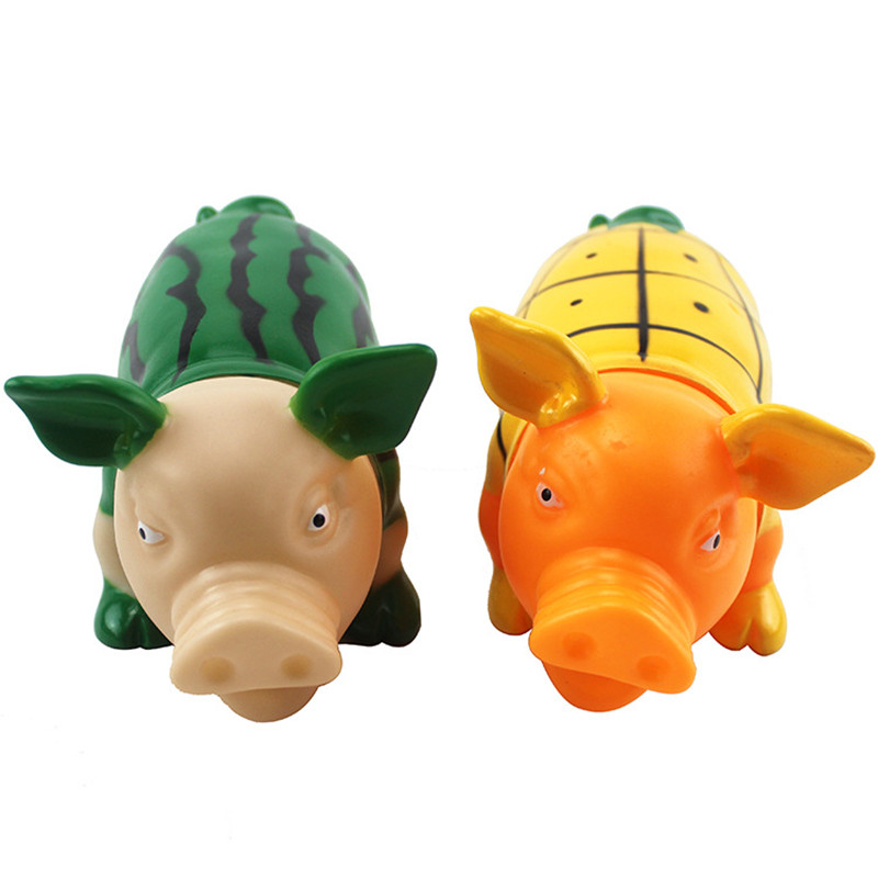 19.5cm Screaming pig Squeeze Sound Toy Pets Toy Product pig Toys Shrilling Decompression Tool Funny Gadgets funny toys