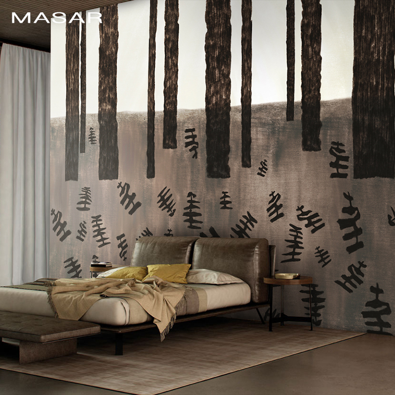 MASAR Creative Abstract Art Murals Imitation Hand-painted Trees Children's Bedroom Background Wall Wallpaper Fantasy Forest