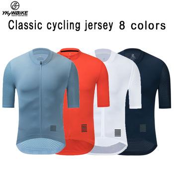 YKYWBIKE mężczyźni koszulka kolarska MTB Maillot koszulka rowerowa koszulka zjazdowa wysokiej jakości Pro Team Tricota Mountain odzież rowerowa tanie i dobre opinie CN (pochodzenie) POLIESTER SHORT 18K001 Wiosna summer AUTUMN Koszulki Zamek na całej długości Cycling Dobrze pasuje do rozmiaru wybierz swój normalny rozmiar