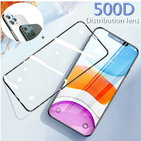 Full Cover Protective Glass For iphone 6 7 8 Plus X XS Max XR Screen Protector Tempered Glass on iphone 11 pro With Camera lens