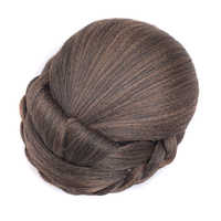Soowee Synthetic Hairpieces Braided Chignon Black Blonde Clip In Fake Bun Donut Hair Bun Hairpieces for Women postizos