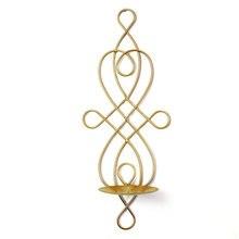 Candelero de Metal para boda, candelabro de decoración de Pilar, candelabro colgante de pared para fiestas pastorales, candelabro Vintage para el hogar