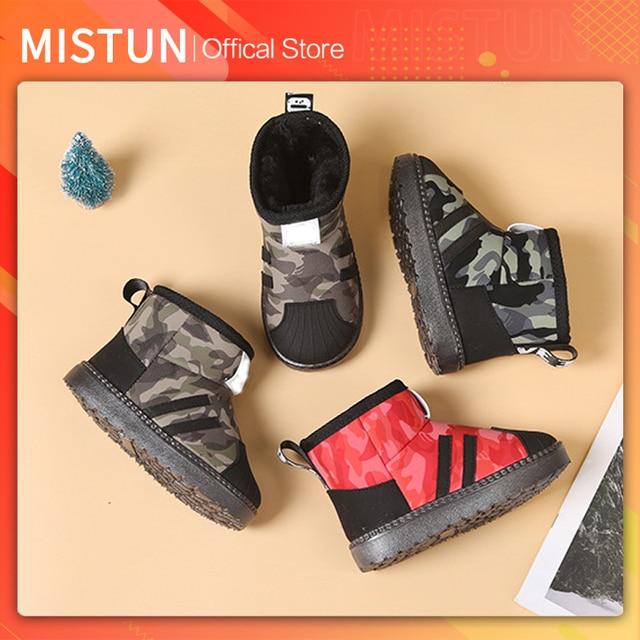 2021 winter new children's snow boots plus velvet non-slip boys waterproof cotton shoes girls short boots baby warm shoes 1