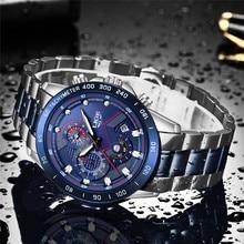 2019 LIGE New Blue Fashion Business Clock Mens Watc
