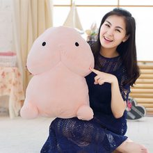 Creative Plush Penis Dick Toys Soft Stuffed Funny Plush Simulation Penis Dolls Gift for Girlfriend Genitals Pillow Cushion(China)